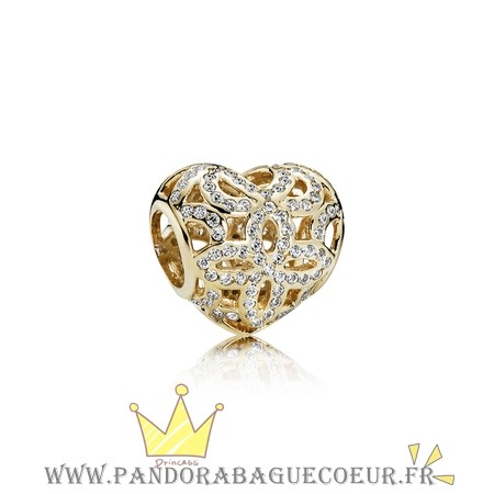 Femme Style Pandora Pandora Collections Amour Appreciation Charme Clear Cz 14K Or