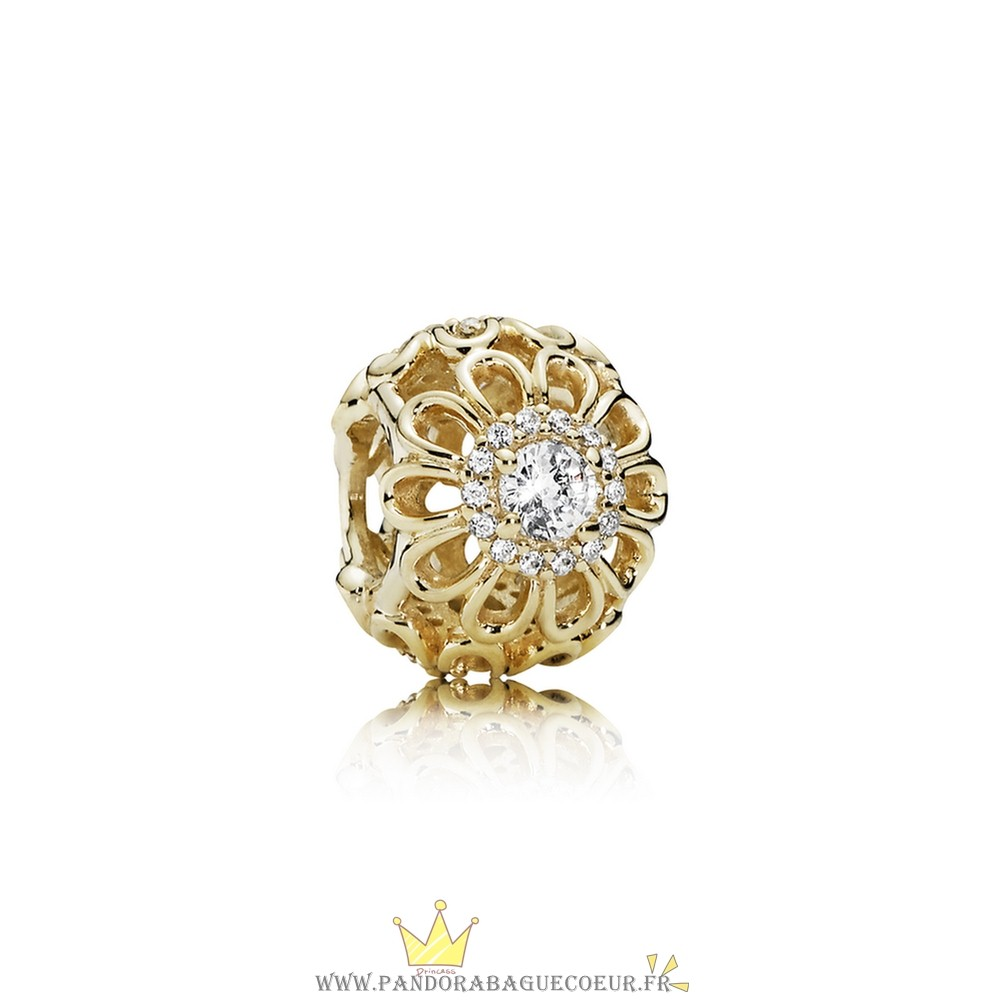 Femme Style Pandora Pandora Collections Floral Brilliance Charm Clear Cz 14K Or