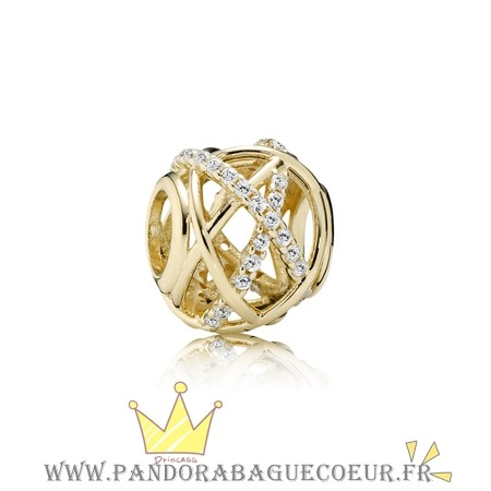 Femme Style Pandora Pandora Collections Galaxy Charm Clear Cz 14K Or