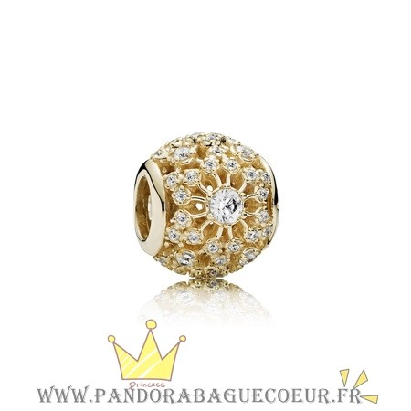 Femme Style Pandora Pandora Collections Interieur Radiance Charm Clear Cz 14K Or
