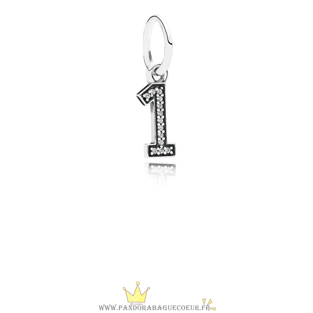 Femme Style Pandora Pandora Alphabet Symbols Charms Numero 1 Dangle Charm Clear Cz