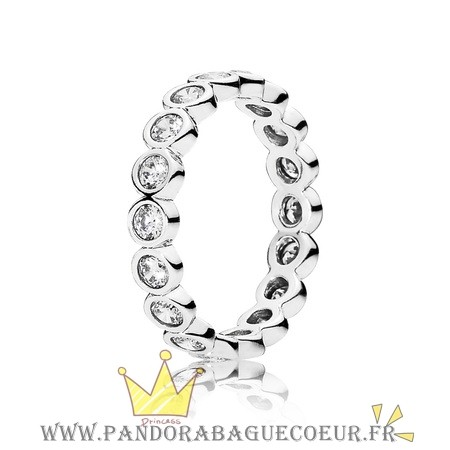 Femme Style Pandora Pandora Bagues Empilable Brillante Clear Cz
