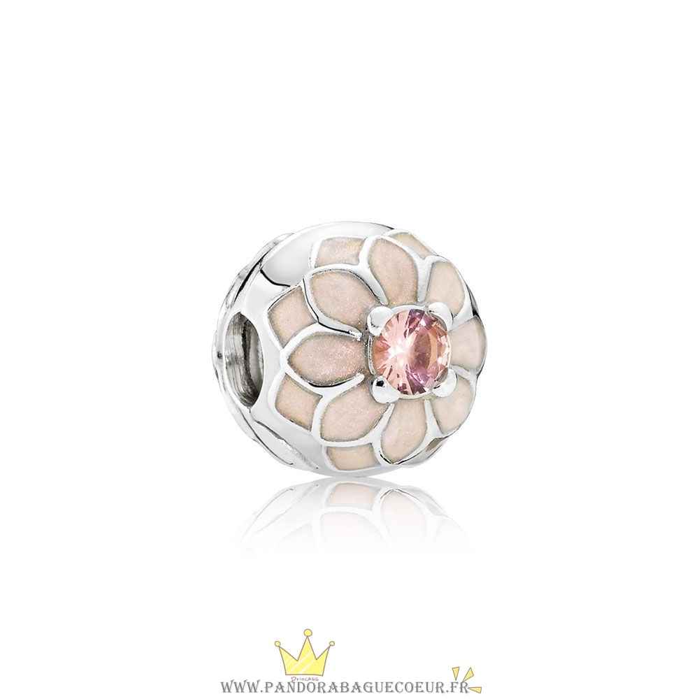 Femme Style Pandora Pandora Clips Breloques Blooming Dahlia Clip Creme Email Blush Rose Crystal