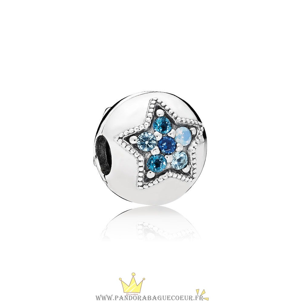 Femme Style Pandora Pandora Clips Breloques Bright Etoile Clip Multi Coloured Crystals
