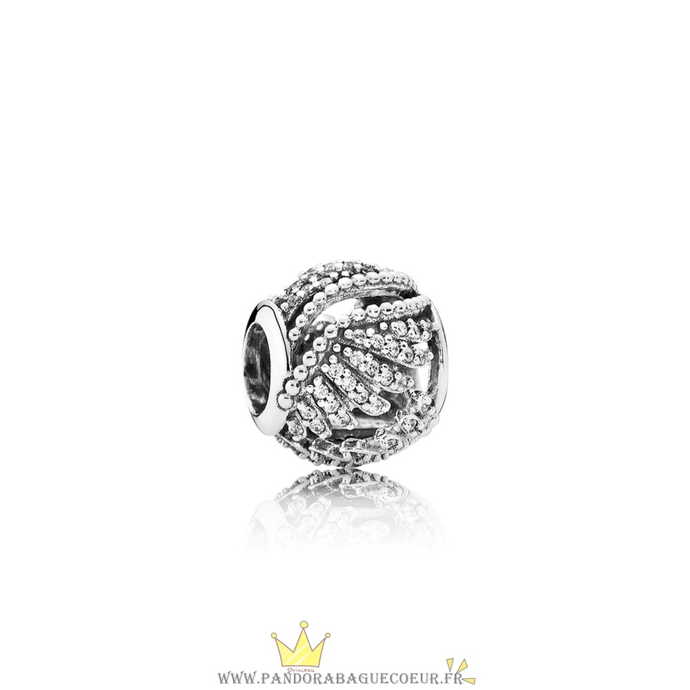 Femme Style Pandora Pandora Inspirational Charms Majestic Plumes Clear Cz