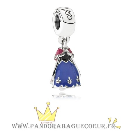 Femme Style Pandora Pandora Disney Collection Disney Poupee D'Anna Dangle Charm Mixed Enamel