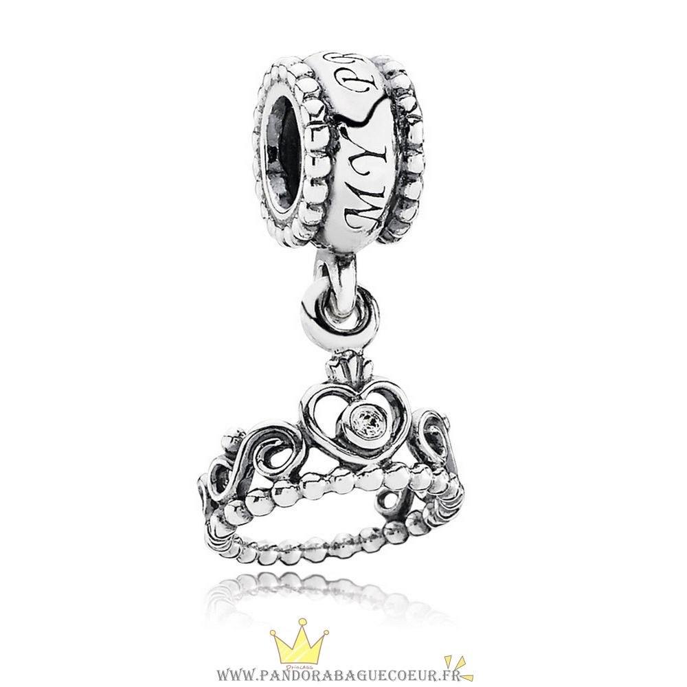 Femme Style Pandora Pandora Fairy Tale Charms Ma Princess Dangle Charm Clear Cz