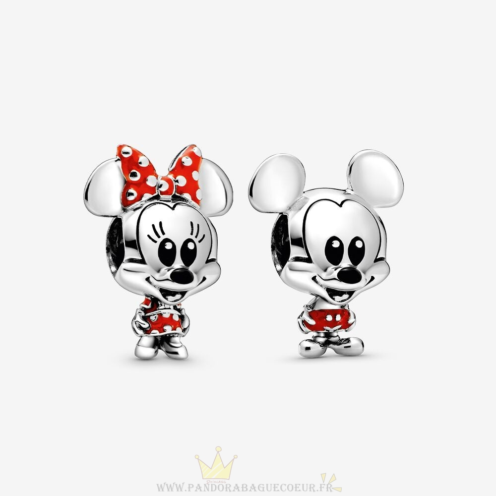 Femme Style Pandora Breloque Disney Mickey Et Minnie Mouse Ensemble