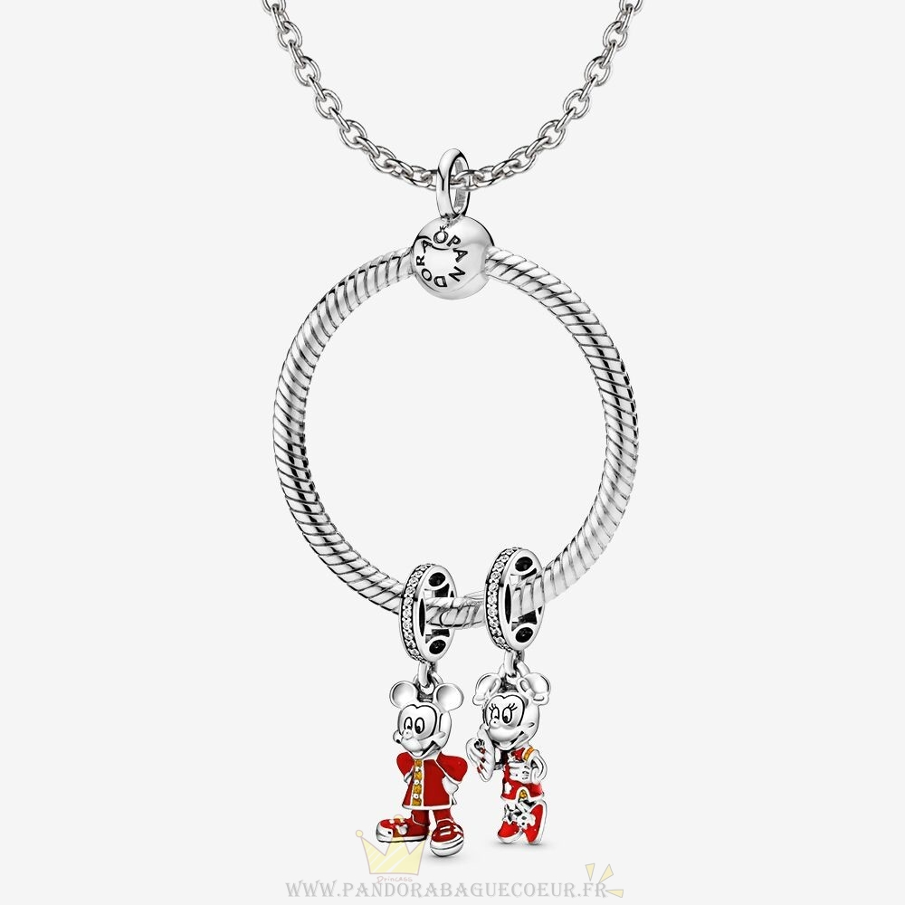 Femme Style Pandora Ensemble De Nouvel An Lunaire Disney Mickey Et Minnie Mouse