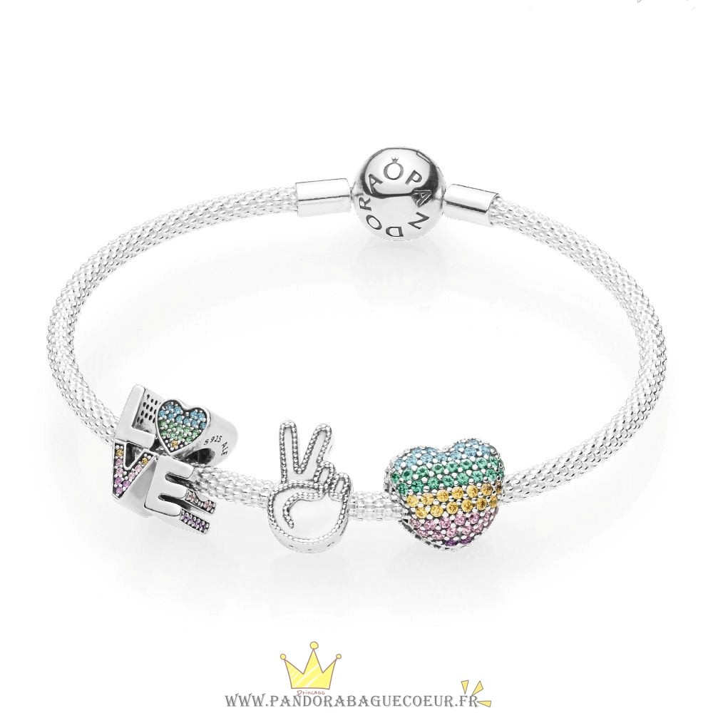 Femme Style Pandora 45 Amour The Rainbow Bracelet Set