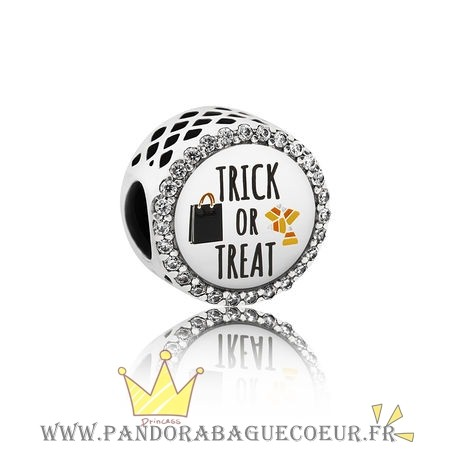 Femme Style Pandora Pandora Vacances Charms Halloween Trick Or Treat Charm Mixed Email Clear Cz