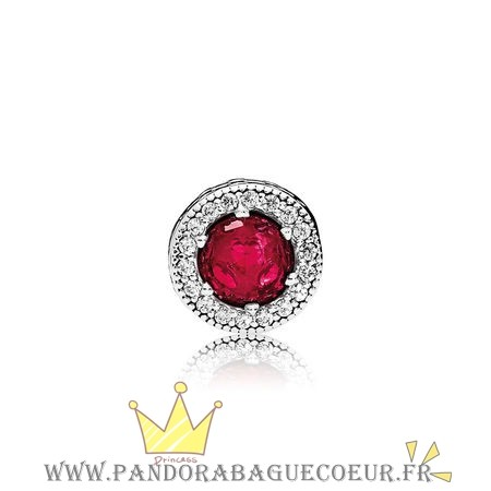 Femme Style Pandora Essence Passion Charme Synthetique Rubis Clear Cz