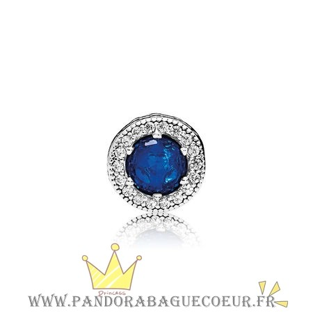 Femme Style Pandora Essence Peace Charme Royal Bleu Cristaux Clear Cz