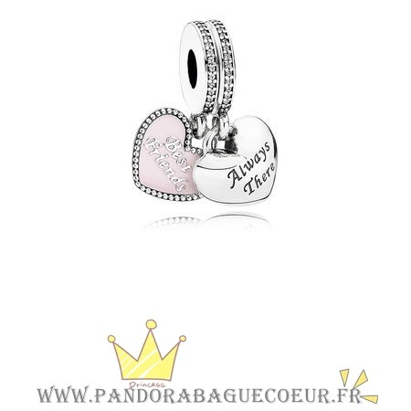 Femme Style Pandora Dangle Charms Meilleur Amis Soft Rose Email Clear Cz