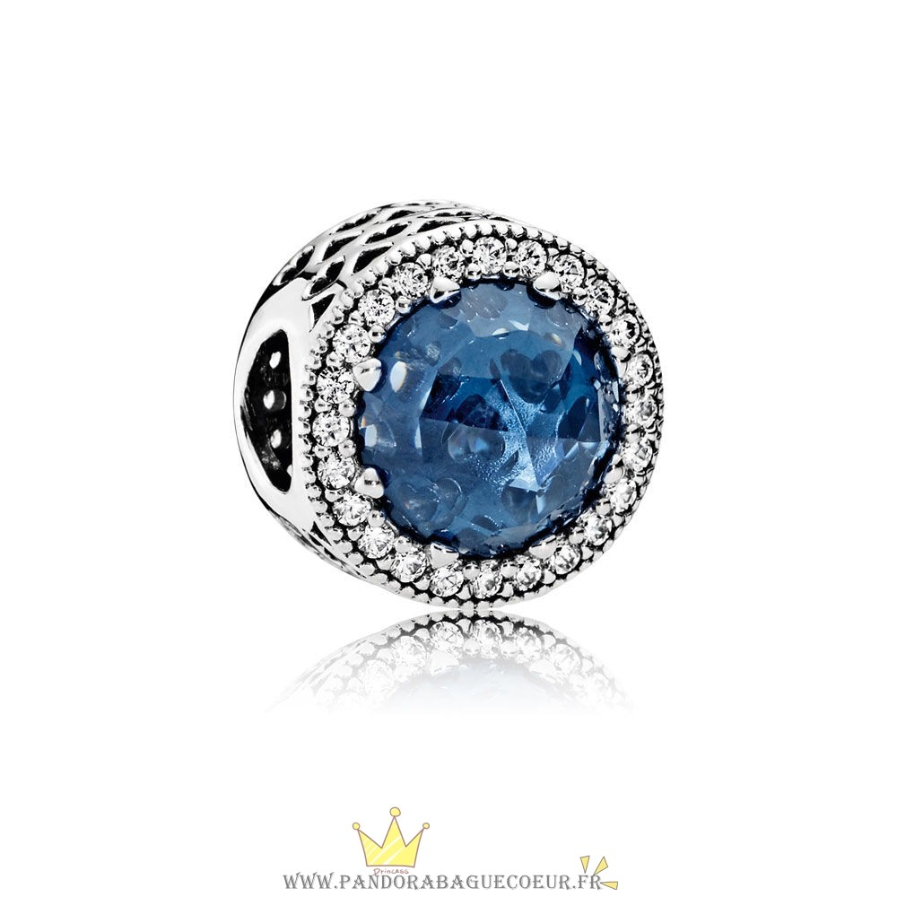 Femme Style Pandora Collection Coeurs De Radiant Moonlight Blue Crystal Clear Cz