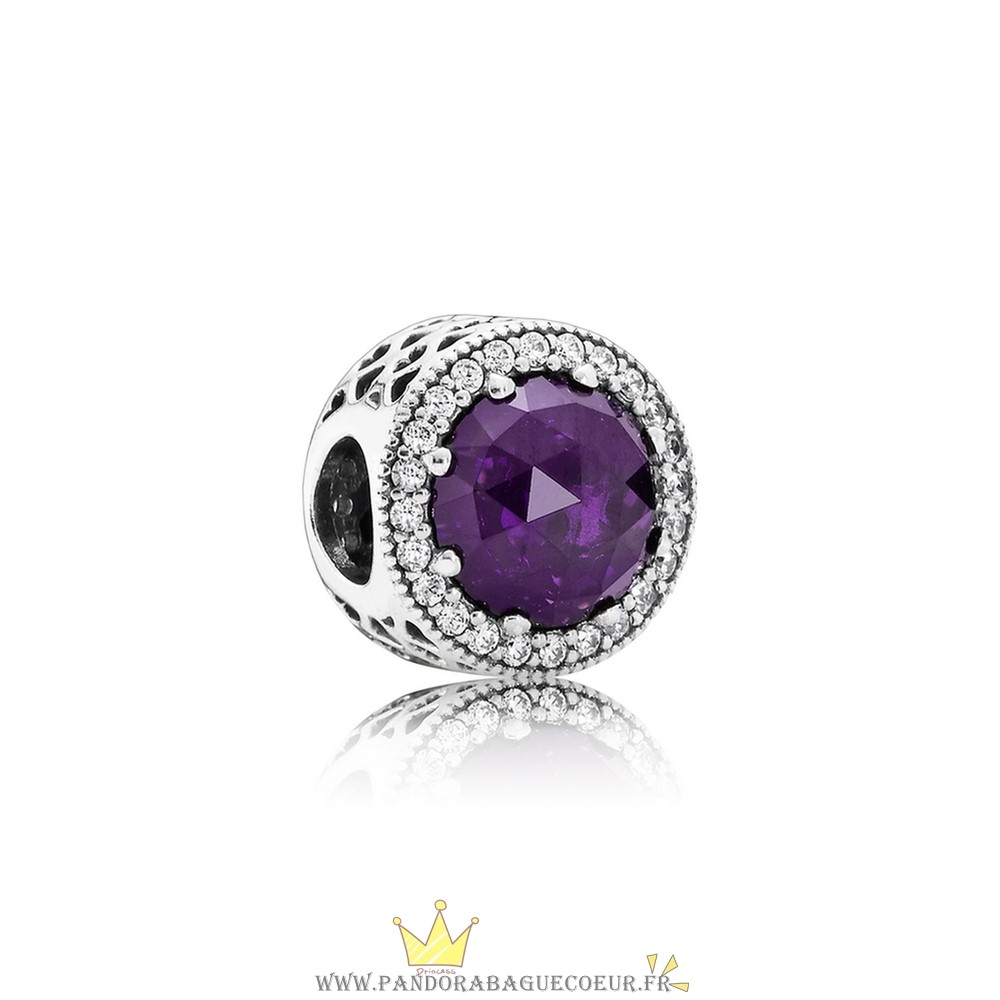 Femme Style Pandora Collection Coeurs De Radiant Royal Violet Crystal Clear Cz