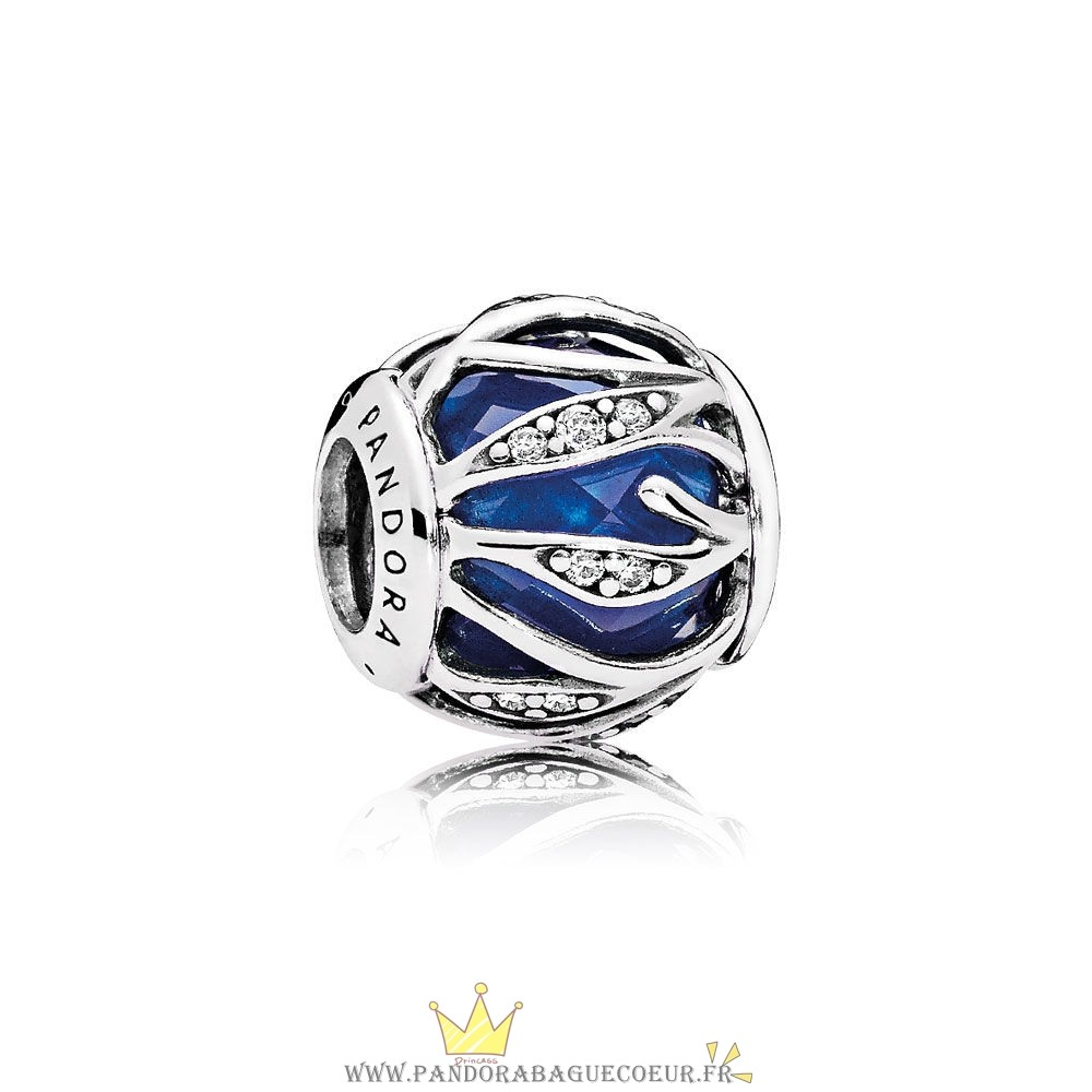 Femme Style Pandora Pandora Breloque De Couleur Breloque Nature'S Radiance Royal Blue Crystal Clear Cz