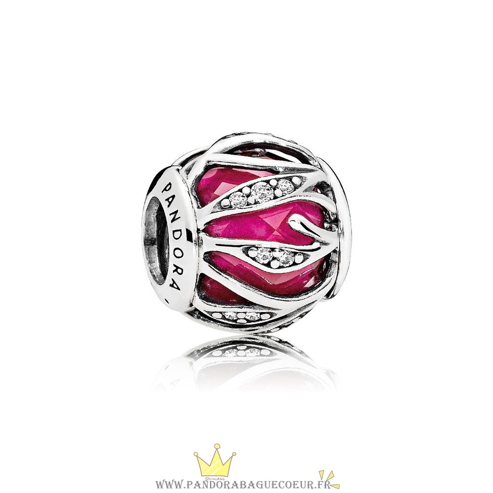 Femme Style Pandora Pandora Breloque De Couleur Breloque Nature'S Radiance Synthetic Ruby Clear Cz